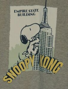 Snoopy Kong Empire State Building Boys Youth Size XL 2018 Peanuts T Shirt