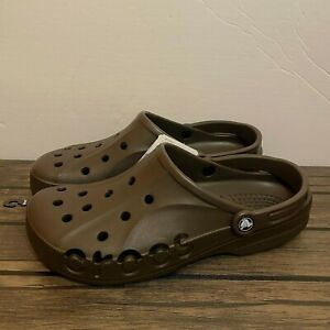 Crocs Baya Brown Mens Slip On Clogs Sandals Sz 10 NEW*10126-206