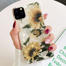 iPhone 11 Pro Max XS MAX XR 8 Plus Bling Glitter Sunflower Cute Phone Case Cover