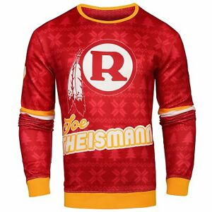 NFL Men's Washington Redskins Joe Theismann #7 Retired Player Ugly Sweater