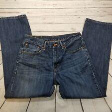 Mens Levis 505 Jeans 30x28 Dark Wash Zipper