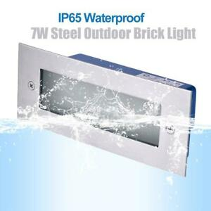 Stainless Steel Mini Lamp Brick 7W Light Outdoor LED Garden Step Wall Lights