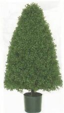 ARTIFICIAL 3' CONE OUTDOOR BOXWOOD BUSH TOPIARY TREE PLANT IN POT FLOWER FLORAL