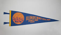 Great Old Vtg 1950s Illinois Beach State Park Dunes Park Zion Soft Felt Pennant