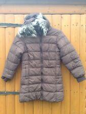 Kids Avenue Next Style Girls Brown Detachable Hooded Fur Coat Parka 6 Years