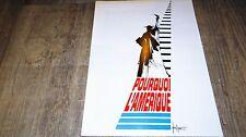 POURQUOI L' AMERIQUE Frédéric Rossif  dossier scenario presse cinema 1969