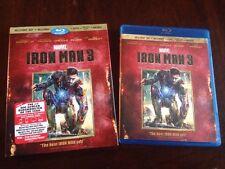 Iron Man 3 Blu-ray 3D 2013 1-Disc Marvel RARE OOP SLIPCOVER SAME DAY SHIPPING