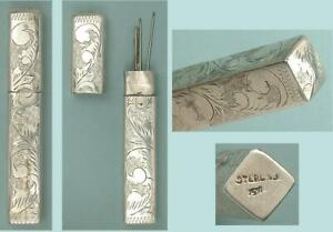 Antique Sterling Silver Needle Case * Continental * Circa 1900s