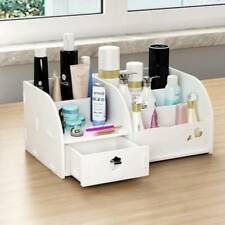 White Make Up Makeup Tidy Sorting Storage Box Case Wooden Organiser DIY
