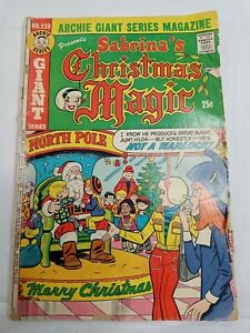 #220 1973 Archie Giant Series Sabrina's Christmas Magic Fair Condition Comic