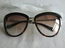 Kate Spade black havana gold frame sunglasses. New. W58YY.