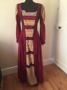 Medieval Dress Renaissance Theater Reenactment Women Costume Retro Size LARGE