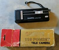 RARE Vintage Quartz 110 Tele-Flash Pocket Camera Strobeflash - Made in Japan