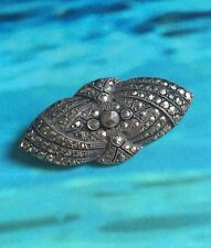 ANTIQUE SILVER AND MARCASITE BROOCH PIN