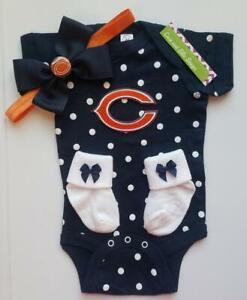 Bears newborn/baby girl Chicago football baby girl Bears baby gift girl