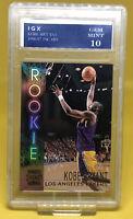 Kobe Bryant Topps Stadium Club Rookie Card 1996 Lakers Nba Gem Mint 10