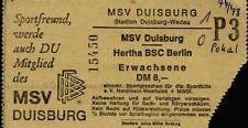 Ticket DFB-Pokal 77/78 MSV Duisburg - Hertha BSC