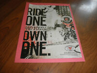 """VICTORY MOTORCYCLE AD-""""Ride one and you'll own one """"--2012"""