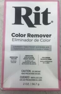 Rit Laundry Treatment, Color Remover - 2 oz NEW Removes Lightens Fabric Color