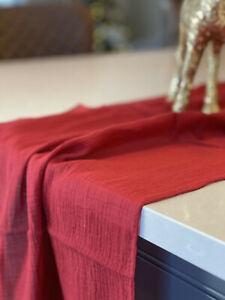 CHEESECLOTH TABLE RUNNER 51CM x 335CM 8 COLOURS DECOR WEDDING DECOR