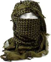 "Olive Drab Shemagh Lightweight Arab Tactical Desert Keffiyeh Scarf - 43"" x 41"""