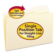 Smead Guide Height Folder 2/5 Cut Right Reinforced Top Tab Legal Manila 100/Box
