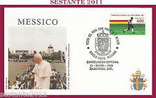 W304 VATICANO FDC ROMA VISITA GIOVANNI PAOLO II MESSICO ZACATECAS 1990