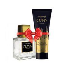 """FARMASI - """"OMNIA"""" Conjunto de 2 EDP 50ML + Perfumado Loción Corporal 100ML para mujeres"""