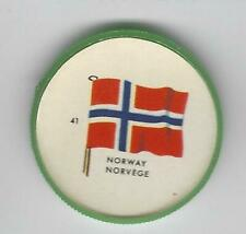 1963 General Mills Flags of the World Premium Coins #41 Norway