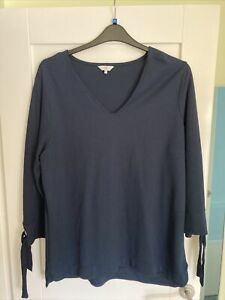 Ladies Blue Cotton Traders Jumper Size 20 New Without Tags