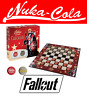Usaopoly - Board Game Checkers - Fallout - Nuka Cola - New/Boxed