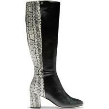 Cole Haan De Cuero Para Mujer Rianne serpiente diseño hasta la rodilla alta botas tacones BHFO 4220