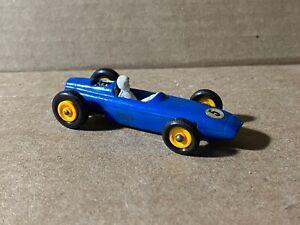 Vintage Matchbox Lesney Blue 52 BRM Very Good Condition Diecast Race Car
