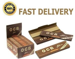 OCB  Unbleached Brown  Virgin King Size + Filter Tips Rolling Papers 16 Booklets