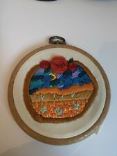 4 Inch Embroidery Wall Hanging Desert