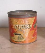 NAPOLI_CAFFE' CIRIO_SCATOLA ROSSA_ANTICA PUBBLICITARIA_DA COLLEZIONE_D'EPOCA