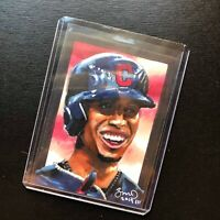 Francisco Lindor Cleveland Indians 1/1 hand drawn original art sketch card aceo