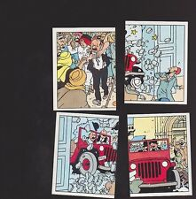Herge Tintin Panini 1989 autocollants 195 196 197 198