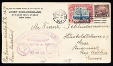 #571 & C11 ON FIRST ZEPPELIN FLIGHT COVER USA TO GERMANY BT5808