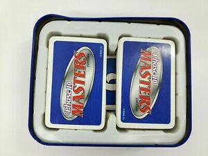 Phase 10 Masters Edition Card Game Mattel 2010 Tin Top Missing & 4 Wild Cards