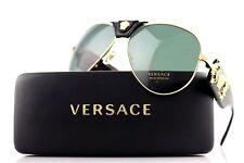 LIMITED EDITION Genuine VERSACE Runway Medusa Aviator Sunglasses VE 2150Q 100271