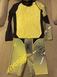 Mens Reebok Crossfit Speedsuit Compression Spandex shirt & Shorts L Skinsuit