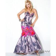 Jovani Printed Strapless Corset Mermaid Prom Evening Dress Sz 2 NWT