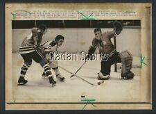 Original Chicago Blackhawks Desjardins 1970 Golden Seals Hicke NHL Hockey Photo