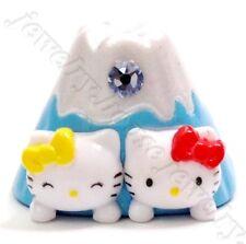 Hello Kitty Swarovski Elements Crystals Japan Mt. Fuji Twins Baby Pendant Charm