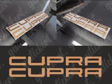 2x 20 cm Cupra Aufkleber kupfer matt bronze Seat Leon Ateca Tuning Decal Sticker