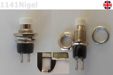 Mini Momentary On/Off Micro Push Button SPST Switch White .... . .