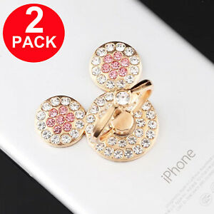 2x Universal 360 Rotating Finger Ring Stand Holder for Cell Phone iPhone iPad