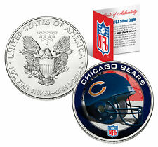 CHICAGO BEARS 1 Oz American Silver Eagle $1 US Coin Colorized NFL LICENSED