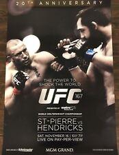 UFC 167 Poster, Georges St-Pierre, Johny Hendricks, GSP, MMA